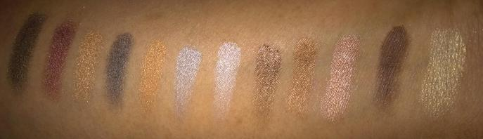 e.l.f Neutral Palette Shimmer Shadow Swatches